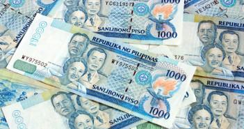 Filipijnen stapel bankbiljetten